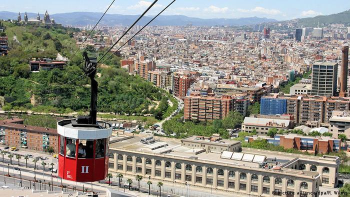 Spanien Barcelona Seilbahn auf Port Vell