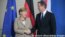 Berlin David Cameron bei Angela Merkel