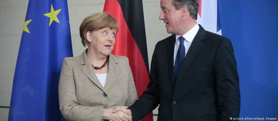 Angela Merkel e David Cameron: relações comerciais em suspense