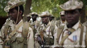 Tschad Armee Soldaten Zeremonie