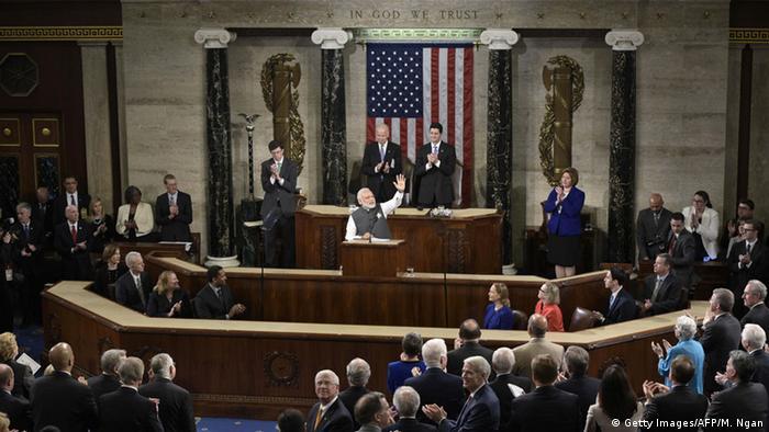 Washington Narendra Modi Rede vor Kongress (Getty Images/AFP/M. Ngan)