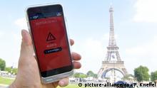 Frankreich offizielle App SAIP zur Warnung vor Terroranschlägen während Fußball-EM