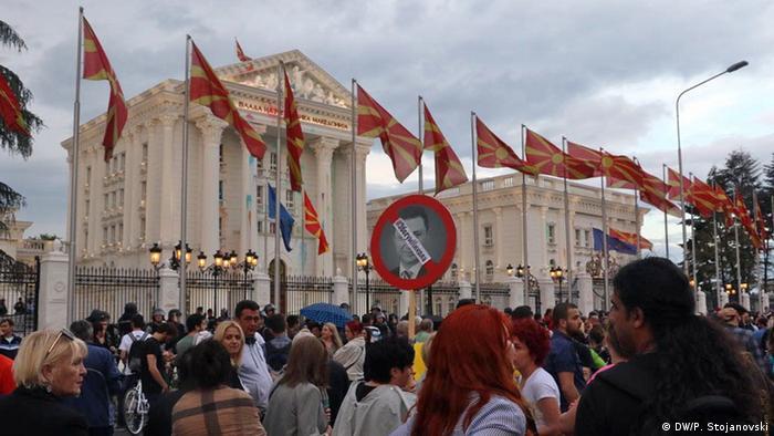 Mazedonien Skopje Antiregierungsproteste (DW/P. Stojanovski)