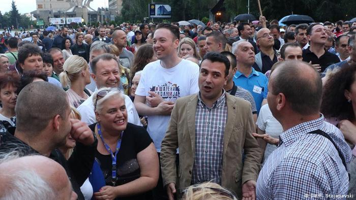 Proteste gegen die Regierung in Mazedonien