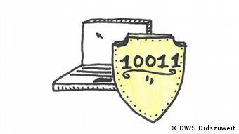 llustration von Simon Didszuweit Digitale Sicherheit