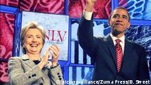 USA Hillary Clinton und Barack Obama