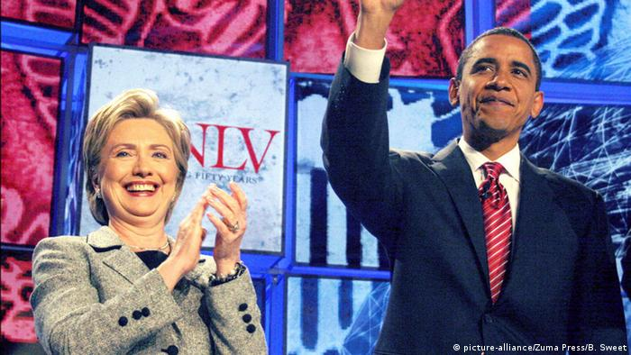USA Hillary Clinton und Barack Obama