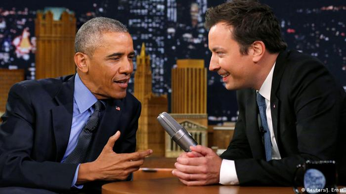 Barack Obama and Jimmy Fallon (Reuters/J. Ernst)
