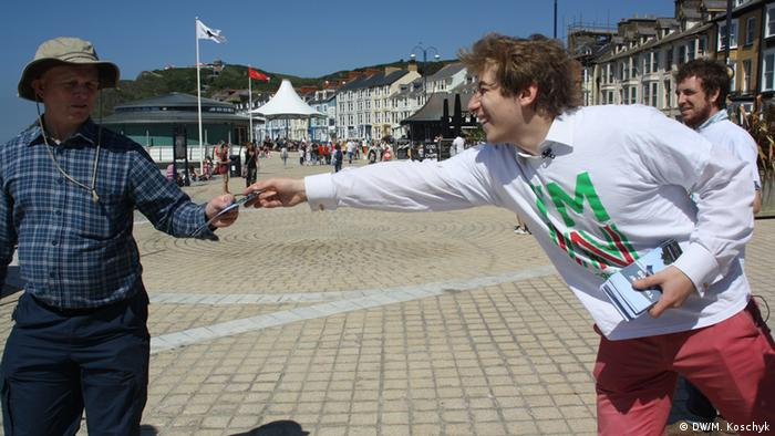Wales Kampagne StongerIn (Source: M.Koschyk/DW)