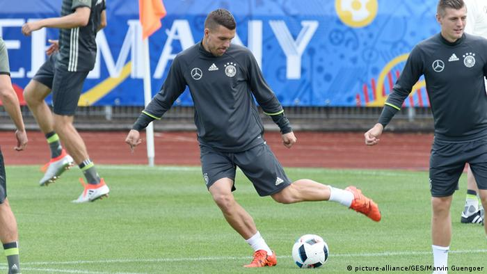 Training Lukas Podolski