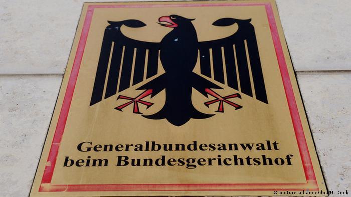 Dienstschild Generalbundesanwalt