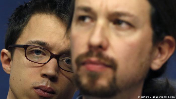 Pablo Iglesias (der) e Ínigo Errejon, de Podemos, en imagen de archivo