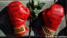 Beerdigung Muhammad Ali Kentucky Louisville Boxhandschuhe