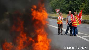 Frankreich Streik in Nantes Gewerkschaft
