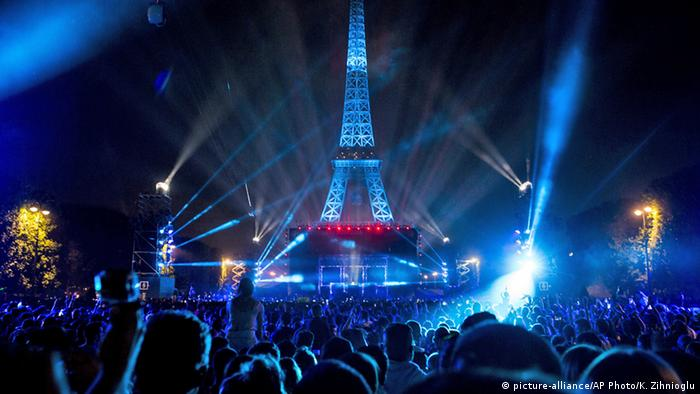 Frankreich Euro 2016 David Guetta Konzert in Paris