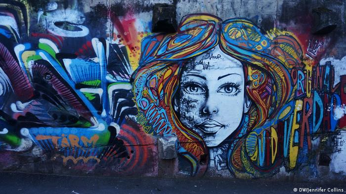 Sitie Park in Vidigal Rio de Janeiro Brasilien Graffiti
