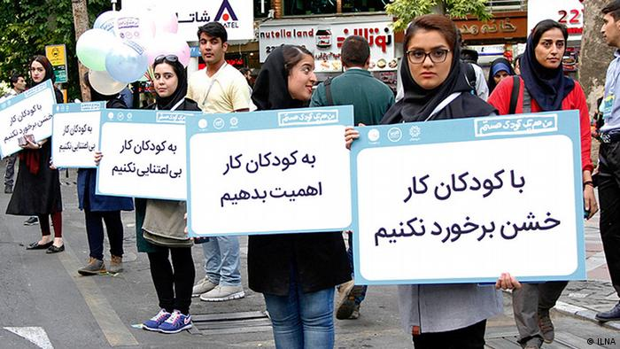 NGO Aktion über Kinderarbeit in Teheran