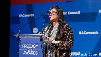 Nightat Dad from the Digital Rights Foundation in Pakistan (photo: flicker/Atlantic council / Kishwar Mustafa)