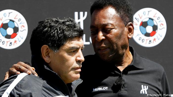 Maradona y Pelé.