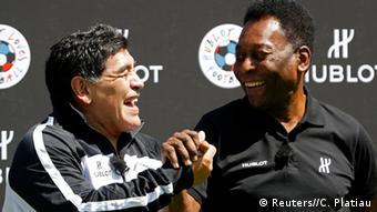 Diego Maradona et le roi Pelé à Paris en 2016