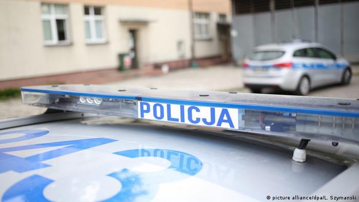 Polen Polizei Autos im Stadtteil Wlochy in Warschau