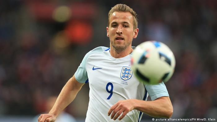 Frankreich englischer Nationalspieler Harry Kane während eines Vorbereitungsspiels (picture alliance/empics/PA Wire/D. Klein)