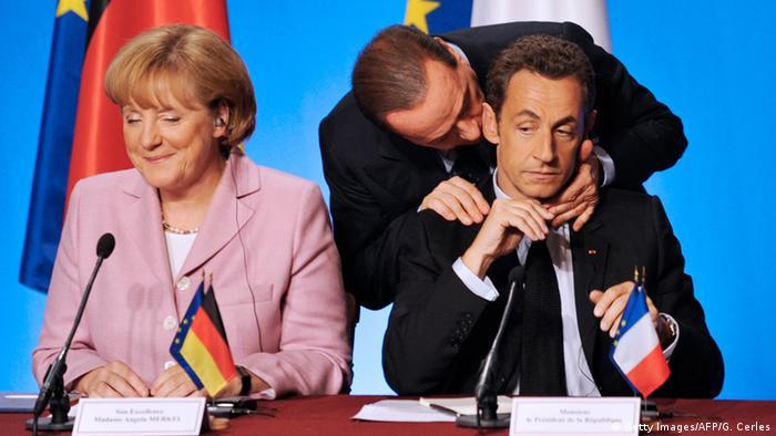 Ангела Меркель, Николя Саркози и Сильвио Берлускони