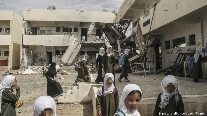 Bomb damaged school in Yemen