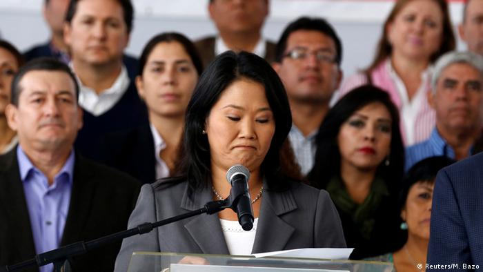 Peru Lima Keiko Fujimori nach Präsidentschaftswahl