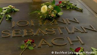 Grabplatte mit der Inschrift Johann Sebastian Bach
