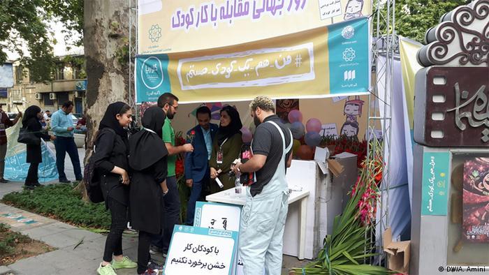 Iran Teheran Aktion für Kinderrechte