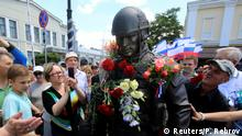Krim Simferopol Enthüllung Soldatendenkmal