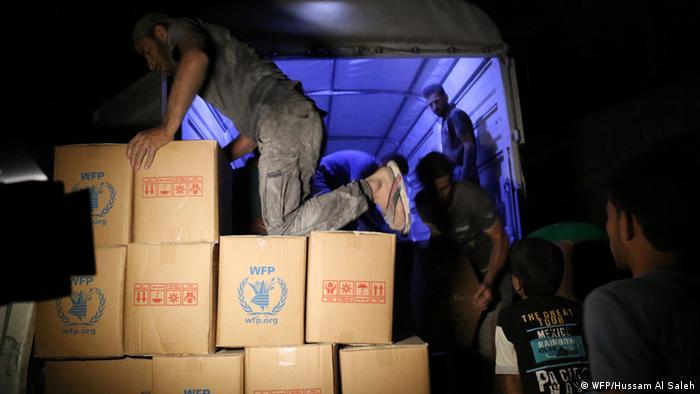 Syrien Damsakus UN Hilfslieferung (WFP/Hussam Al Saleh)
