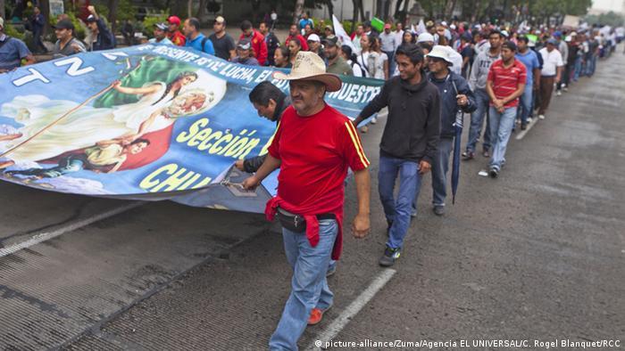 Mexiko Proteste von Lehrern in Mexiko-Stadt