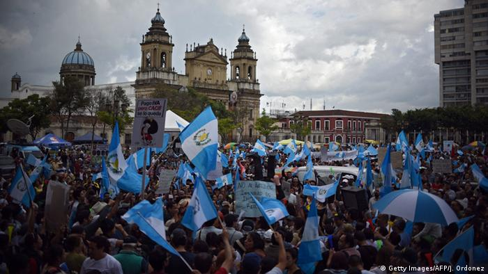 Protest against corruption in Guatemala