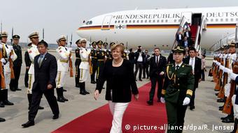 China Merkel in Peking