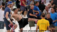 June 11, 2016 England v Russia - UEFA Euro 2016 - Group B - Stade Velodrome. Tempers flare in the stands between Russia and England fans during the UEFA Euro 2016, Group B match at the Stade Velodrome, Marseille. Picture date: Saturday June 11, 2016. See PA story SOCCER England. Photo credit should read: Nick Potts/PA Wire. RESTRICTIONS: Use subject to restrictions. Editorial use only. Book and magazine sales permitted providing not solely devoted to any one team/player/match. (c) picture-alliance/empics/PA Wire/N, Potts