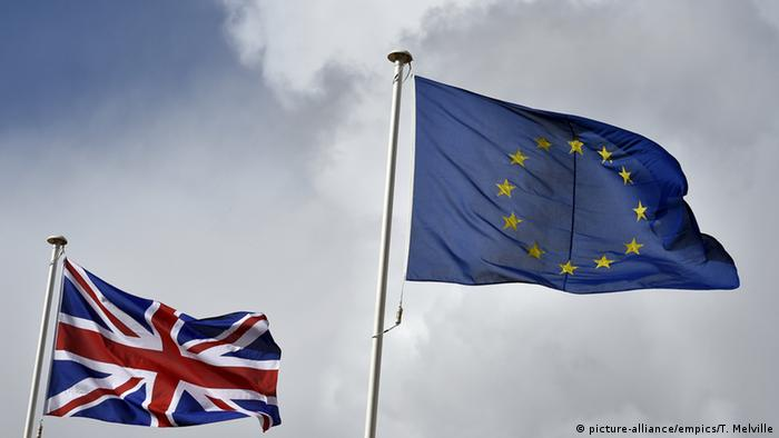 UK, EU flags flying side by side