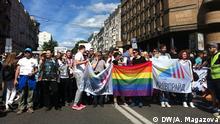 Bilderbeschreibung: Kyiv-Pride 2016 in der Ukraine. Datum: 12.06.2016 Ort: Kyiv (Kiew) Tags: Ukraine, Kyiv, Kiew, Kyiv-Pride, Homosexualität Autor: Anastasia Magazova, unsere Korrespondentin in Kyiv. Copyright: DW/A. Magazova