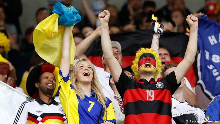 Українські і німецькі вболівальники