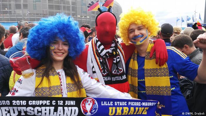 Українські та німецькі вболівальники