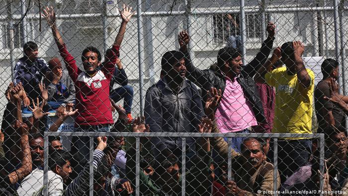 Griechenland Flüchtlinge von Afghanistan und Pakistan