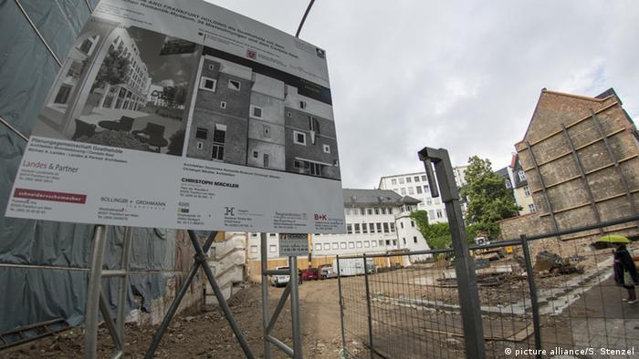 Construction site for new Museum of German Romanticism in Frankfurt, Copyright: picture alliance/S. Stenzel