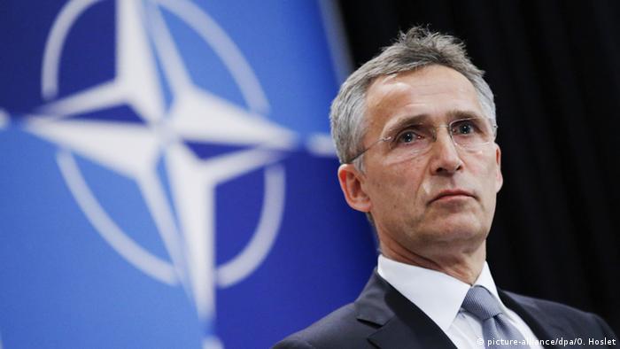 NATO-Generalsekretär Jens Stoltenberg während einer Pressekonferenz in Brüssel (Foto: dpa)