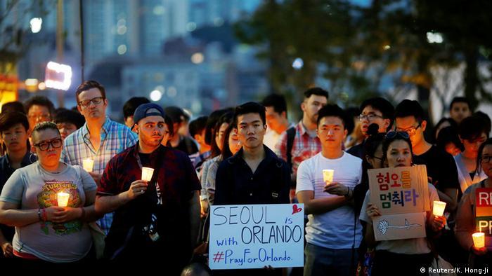 Südkorea Seoul Trauer nach Orlando Attentat (Reuters/K. Hong-Ji)