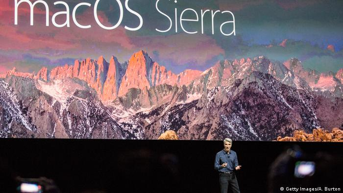 USA San Francisco Apple Keynote. Craig Federighi, VP Software development