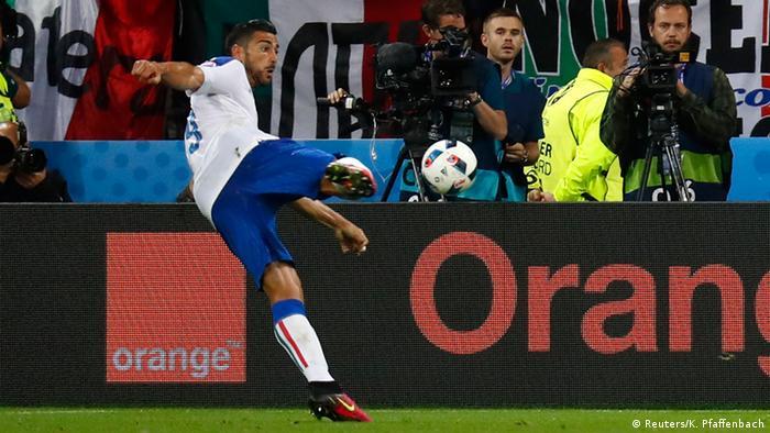 EURO 2016 Belgien vs Italien Italien Tor