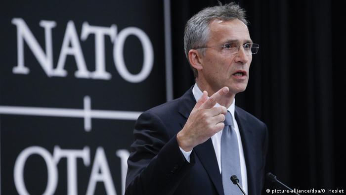 Belgien Jens Stoltenberg bei der Pressekonferenz der NATO