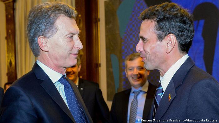 Argentinien Präsident Mauricio Macri empfängt Venezuelas Opositionsführer Capriles