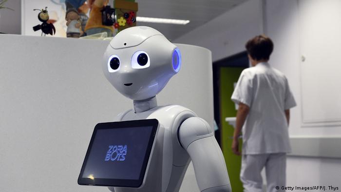 Belgien Liege Krankenhaus-Roboter namens Pepper